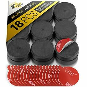 X bet Magnet Ceramic Magnets With Adhesive Backing 1 Inch 25mm Round Disc
