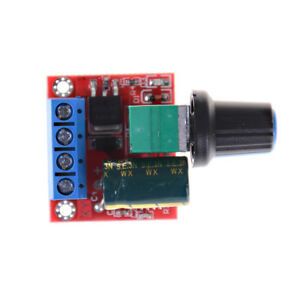 Mini Dc Motor Pwm Speed Controller 5a 4 5v 35v Speed Control Switch Led Dimh3