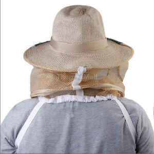 Beekeep Beekeeper Cowboy Hat Mosquito Bee Insect Net Face Head Protector_h3