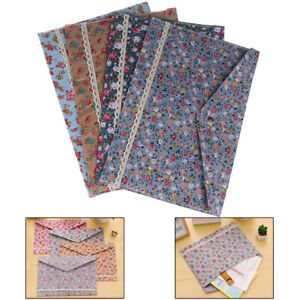 Floral A4 File Folder Document Bag Pouch Brief Case Office Book Holder Oh3