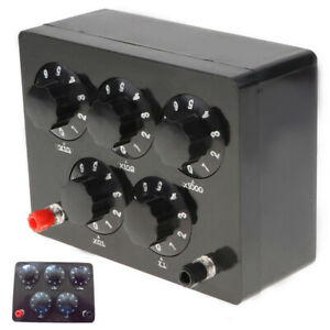 Variable Decade Resistor Resistance Box 0 9999 9 Ohm For Physical Teaching Tool