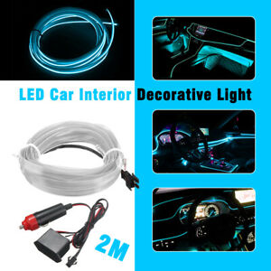 2m Ice Blue Flexible Led Strip Light Waterproof For Car Truck Boat Bicycle Store
