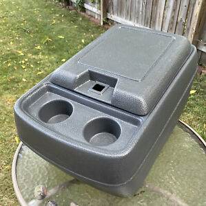 80 96 Ford F150 Truck F250 F350 Bronco Blue Gray Center Console Cup Holder