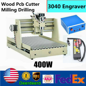 3 Axis Cnc 3040 Router Engraver Milling drilling carving Machine 400w handwheel