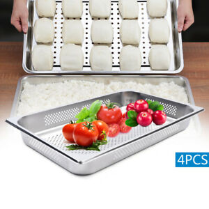 4 X 2 5 Deep Stainless Steel Food Veg Fruit Pans Perforated Steam Table Pans Us