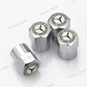 4x For Mercedes Benz Car Tire Valve Stems Caps Wheel Air Valve Covers Styling