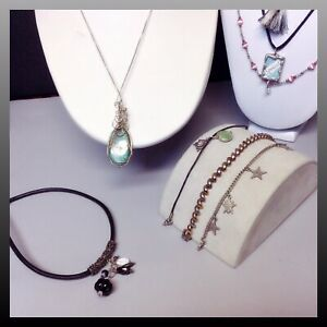 925 800 Sterling Silver Jewelry Lot Approx 2 9 Ounces Vintage Modern Wearable
