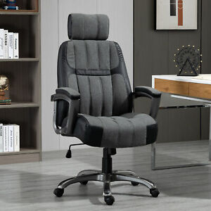 Ergonomic Cushioned Computer Desk Seat With Raised Armrests And 360 Wheels