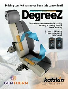 Katzkin Degreez Heated Cooled Leather Seat Covers Kit Heater Cooling Ventilated
