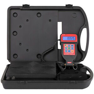 220lbs Digital Refrigerant Charging Weight Scale W 1 4 Inch Male Flare Hvac