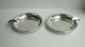 Lot Of 2 Vintage Sterling Silver 3 Ashtrays No Monograms