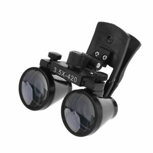 Dental Loupes 3 5x420mm Clip Type Surgical Medical Binocular Magnifier Glasses