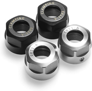 Genmitsu 4pcs Er11 a Collet Clamping Nut With Dynamic Balance Holes For Cnc Mill