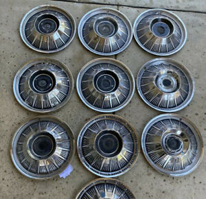 1964 65 66 Ford Thunderbird Tbird 15 Red Spinner Hubcaps T Bird 64 Wheel Covers
