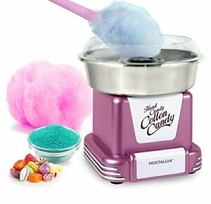 Nostalgia Retro Hard Free Countertop Cotton Candy Maker With Stainless Steel Bow