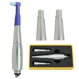 Dental Hygiene Prophy Handpiece 4 Holes Air Motor With 3 Nose Cones 360 Swivel