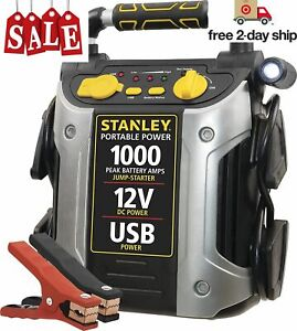 Power Booster Pack Heavy Duty Battery Jump Box Portable Usb Compressor Charger