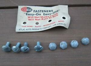 Vintage Nos License Plate Attaching Screws Real Deal 1960 S Factory Applications