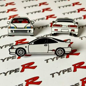 White Integra Type R Honda Acura Lapel Pin Collectable Set Car Gift Hat Pins