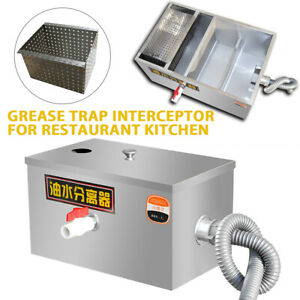 New High Quality Stainless Steel Grease Trap Interceptor For Kitchen Wastewater