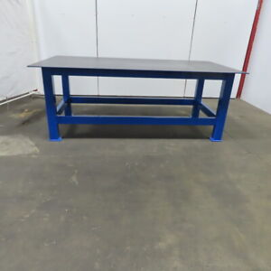 3 8 Thick Top Steel Fabrication Welding Layout Table Work Bench 96 x48 x36