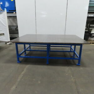 1 Ground Top Steel Fabrication Layout Welding Table Work Bench 98x70x32 high