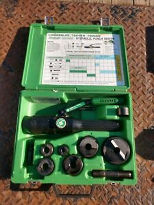 Greenlee Tool 7806sb 1 2 2 Quick Draw Hydraulic Knockout Punch Driver Set