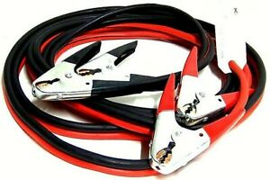 25ft 2 Gauge Booster Cable Battery Jump Start Jumping Heavy Duty Cables Jumper