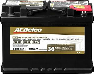 New Acdelco Gold 48agm Vehicle Auto Car Agm Bci Group 48 Battery 88864541 36mth