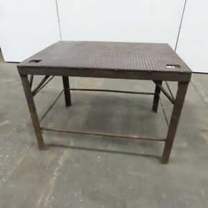 3 8 Thick Top Steel Fabrication Welding Table Work Bench 40x29 3 4x28 1 2 High