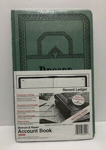 Boorum Pease Record account Book Record Rule Blue 150 Pages 12 1 8 X 7 5 8