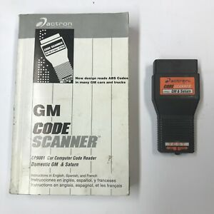 Actron Book Amp Cp9001 Code Scanner For 1982 1993 Gm Vehicles Saturn Gm Mfg Usa