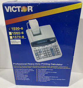 Victor 1530 6 10 Digit Professional Grade Heavy Duty Commercial Printing Calc