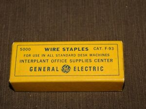 Vintage Desk Ge General Electric Wire Staples Cat F 93