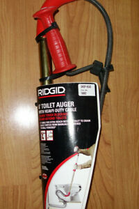 Ridgid K 6p 6 Toilet Auger With Drop Head And Heavy Duty Cable 6 Foot