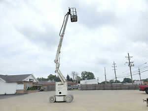 Marklift Ch30kbn Knuckle Boom Man Lift Manlift 36 3k In Brand New Batteries