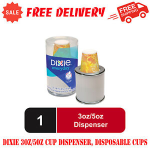 Dixie 3oz 5oz Cup Dispenser Disposable Cups 3 Oz 20 Count Paper Cups Included