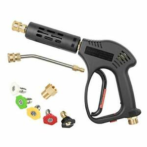 Chavor Pressure Washer Short Gun 5 Nozzle Tips 7 Inch Extension Curved Rod M2