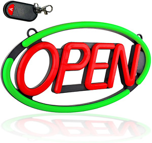 Large Open Sign For Stores Ultra Bright Led Open Neon Sign W Remote Control