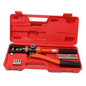 Hydraulic Wire Crimper Battery Lug Terminal Cable Crimping Tool 8 Dies 12