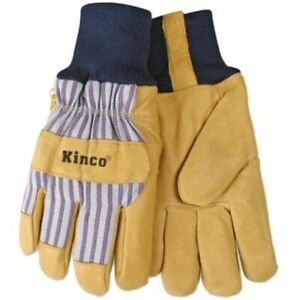 Kinco Lined Knit Wrist Pigskin Work Gloves Size Small Construction Farm 1 Pair