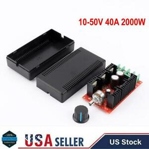 10 50v 40a 2000w Max Dc Motor Speed Control Pwm Hho Rc Controller Kit Usa