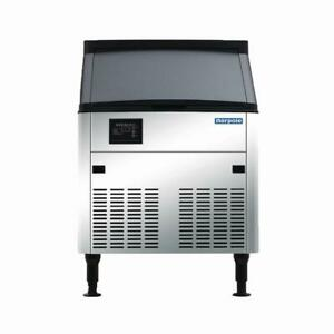 Norpole 160 Lbs Freestanding Commercial Ice Maker In Stainless Steel