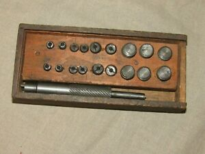 Vintage Brown Sharpe Micrometer Caliper Set In Wooden Box With Label