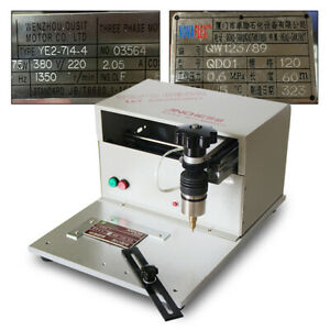 Used electric Nameplates Engraving Machine Metal Plates Table 110v Us