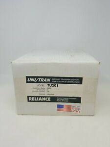 Reliance Tu201 Manual Transfer Switch For Portable Generators Nos 20 Amp