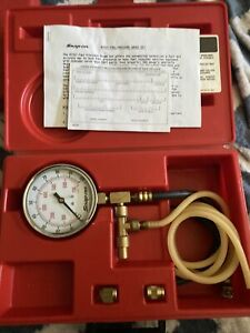 Snap On Tools Mt337a Fuel Injection Pressure Gauge Set Usa New
