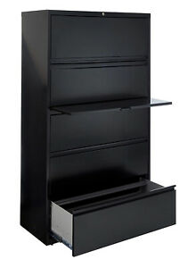 Metal 5 Drawer 42 Wide Lateral File Cabinet Office Furniture local Pick Up