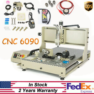 Usb 2 2kw 4 Axis Cnc 6090 Router Engraver Wood Pcb Milling Carving Kit handwheel