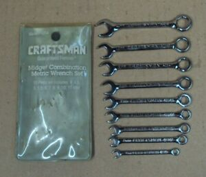Lot9 Pc Sears Craftsman Ignition Combination Metric Wrench Set 9 42339 Usa